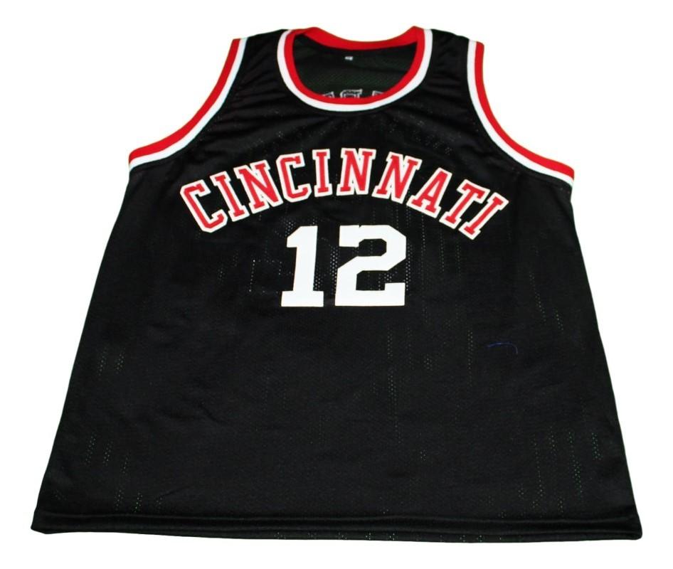 Oscar Robertson #12 Cincinnati New Men Basketball Jersey Black Any Size