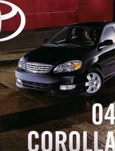 2004 Toyota COROLLA sales brochure catalog 04 US CE LE S - $6.00