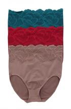 Rhonda Shear 3Pc Lace Seamless Ahh Brief Panty MOCHABERRYBOTTLEG 3X NEW ... - $23.74