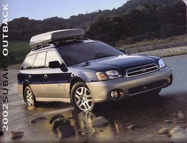 2002 Subaru OUTBACK sales brochure catalog 02 US Legacy - $8.00