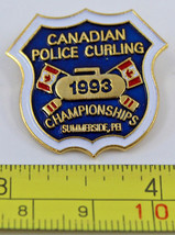 RCMP Canadian Police Curling Championships 1993 Collectible Pin Summersi... - $8.49