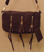LINEA PELLE Alex Brown Zip Small Crossbody Bag Handbag NEW (MAKE AN OFFER) - $192.25 CAD