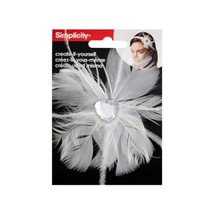 Bulk Buys simplicty white feather w/jewel headband accend (Set of 48) - $45.03