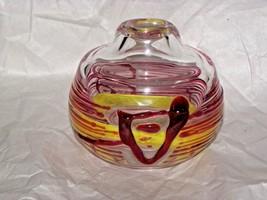"Czechoslovakian Jiri Suhajek for Moser / Karlovarske Sklo Art Glass 5"" - $143.55"