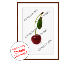 Elegant Cherry Berry instant download digital file home decor wall art p... - $8.00