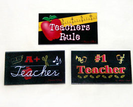 Collection of 3 Teacher Magnets - $10.99
