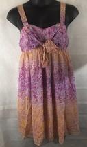 Liz Lange Maternity Short Dress Sleeveless Chiffon Layered Size XL - $19.75
