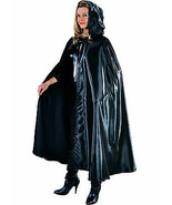 Deluxe BLACK  Satin Hooded Cloak/Cape - GOTHIC / WITCH ETC  - $27.76
