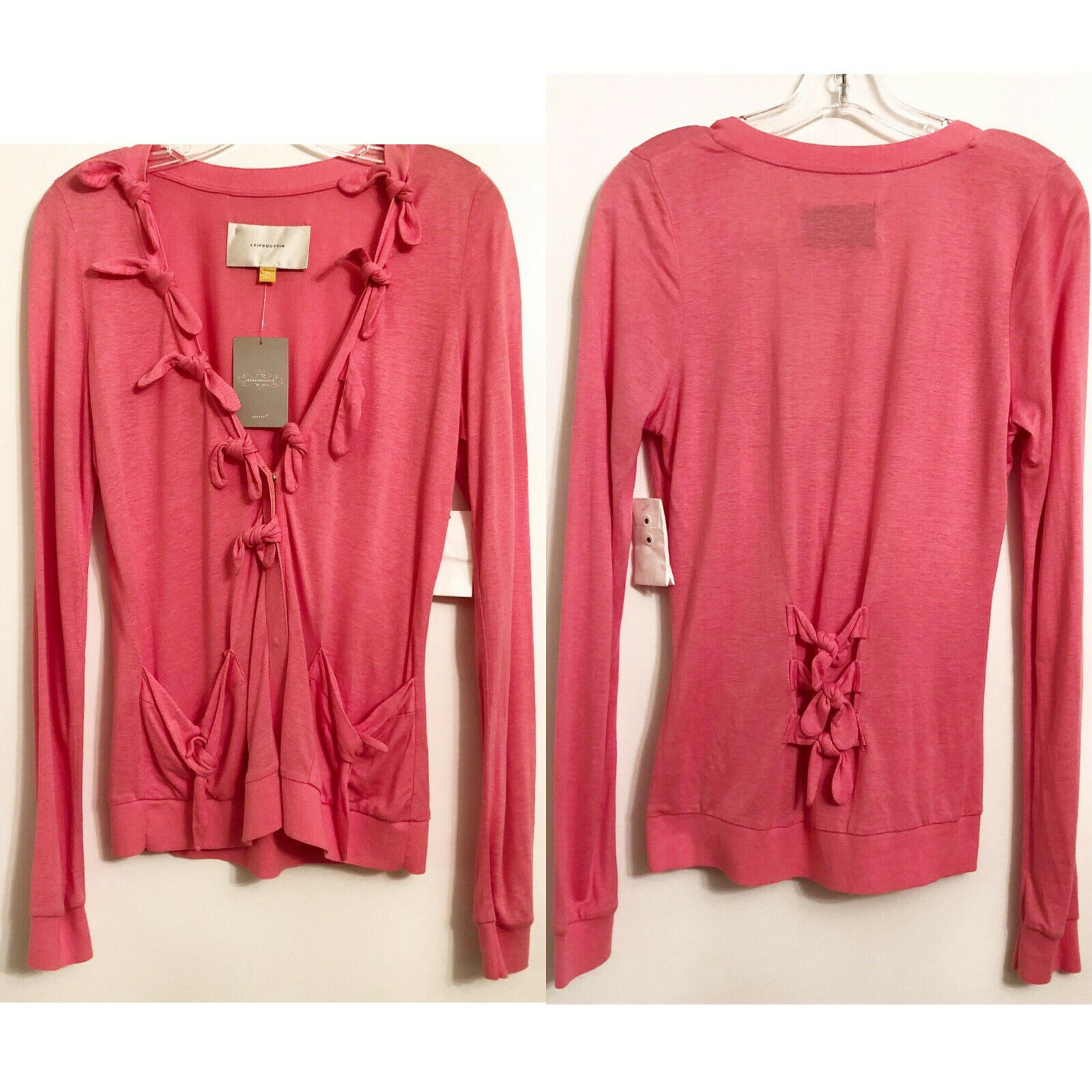 Primary image for NWT Anthropologie Leifsdottir Pink Linen Blend Cardigan Sweater Size S $148
