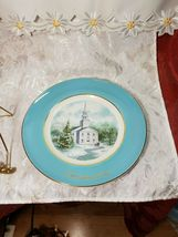 Vintage AVON Christmas Plate Series COUNTRY CHURCH 2nd Edition 1974 WEDGWOOD image 5