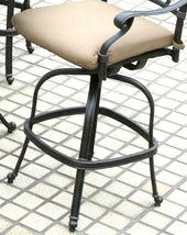 Outdoor patio bar stool swivel Elisabeth cast Aluminum furniture Bronze image 5