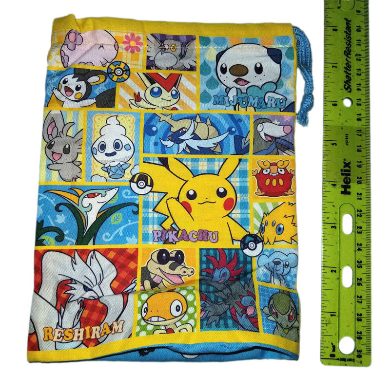Pokemon Generation 5 Pokemon Center Drawstring Bag * Nintendo * Anime