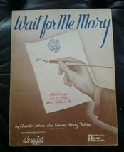 """Vintage 1942 SHEET MUSIC """" WAIT FOR ME MARY """" WAR Bonds WWII - $9.50"""