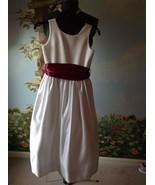 US Angels White Dress Flower Girl Wedding Communion Sleeveless Dress Siz... - $48.51