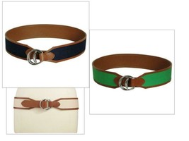 $48.00 Lauren Ralph Lauren Wide D-ring Canvas Belt - $15.25