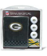 Green Bay Packers NFL Regulation Size Golf Balls Tees Embroidered Towel Set - $31.68