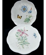 Set of 2 Lenox Butterfly Meadow Tiger Swallowtail & Monarch Dinner Plates  - $45.54