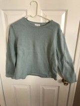 Charter Club Womens Green Textured Sweater - $3.00