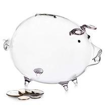 Erreloda Piggy Bank Transparent Creative Glass Coin Bank Small Glass Pig... - $15.09