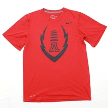 Nike Uomo Rosso Drifit T-Shirt University di Arizona Calcio Performance ... - $20.15