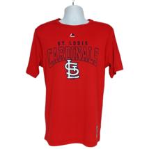 St Louis Cardinals MLB Baseball T Shirt Medium Cool Base Crew Neck Short Sleeve - $26.73