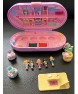 Vintage Polly Pocket Stampin School COMPLETE Oval Green Case Dolls 1992 ... - $59.39