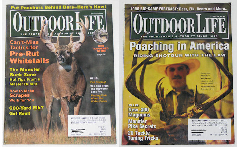 Mixed Lot of 7 Outdoor Life Magazines Hunting Fishing