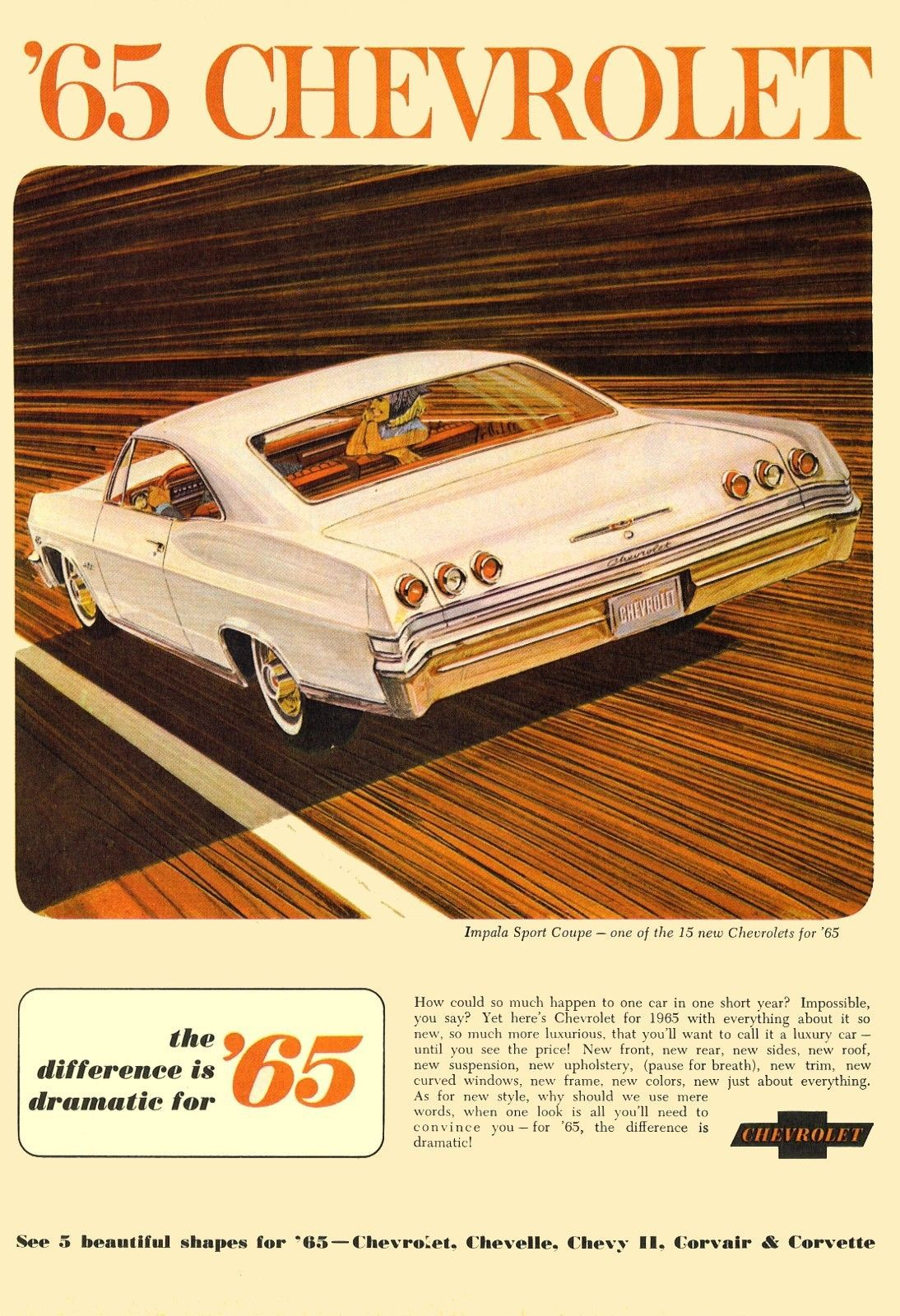 "Impala Chevy 24/"" x 36/"" Classic Cars 1967 Chevrolet Full-Size POSTER!"