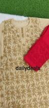 Women Indian Cotton Kurti Pant Set Lucknawi Chikankari Handmade Kurta Ku... - €15,59 EUR+