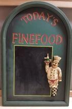 "Restaurant Food Wood Sign Wall Plaque 3D Chalkboard Menu ""Today's Fine F... - €32,74 EUR"