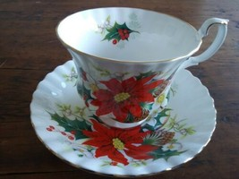 Elegant Royal Albert Yuletide Teacup and Saucer - $18.70