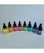 Dr.Ph.Martin's Bombay India Drawing Ink 1oz/30ml Bottle - Lot of 7 Colors - $49.49