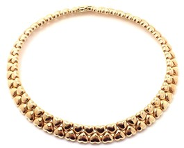 Authentic! Cartier 18k Yellow Gold Heart Necklace Circa 1994 - $9,950.00