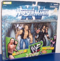 1998 WrestleMania XV 2 Tuff 3 Austin vs Undertaker Action Figure Set WWF... - $18.63
