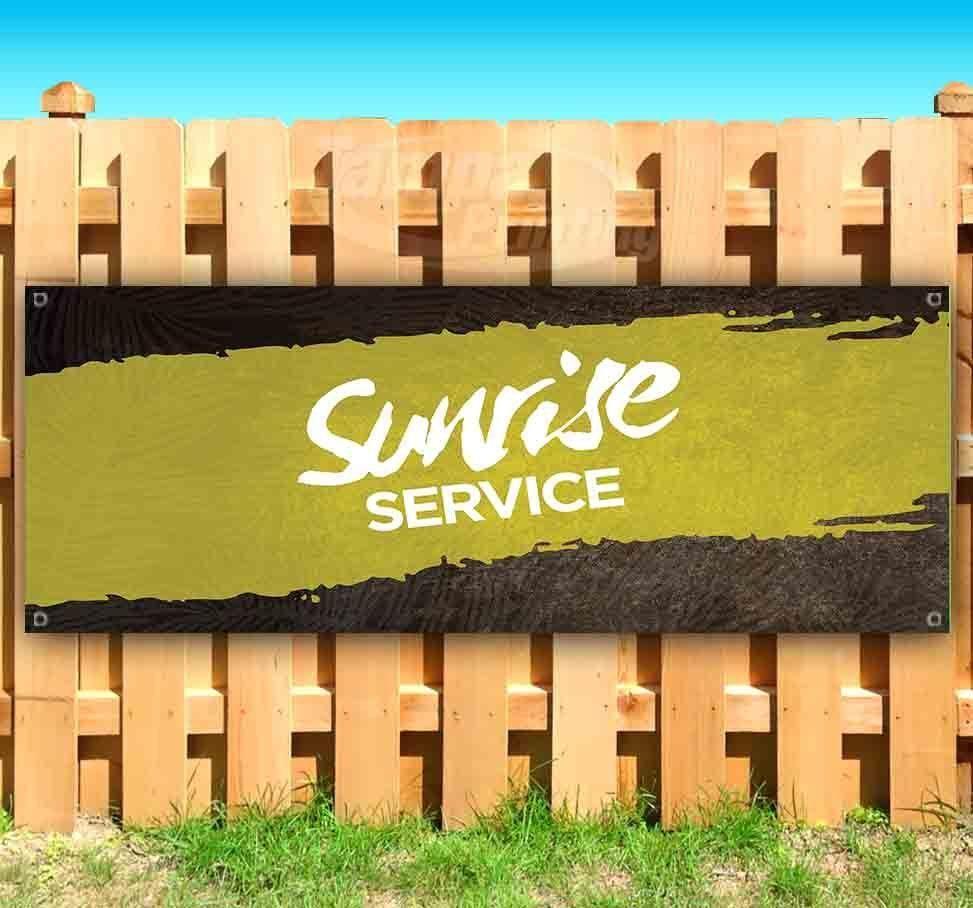 SUNRISE SERVICE Advertising Vinyl Banner Flag Sign Many Sizes USA CHURCH