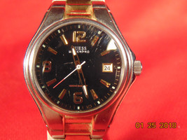 One (1), Man's, Guess Waterpro, Analog Quartz Watch, with Date Window at 3. - £15.34 GBP
