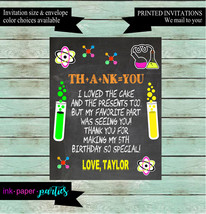 Mad Scientist Science Chemistry Lab Birthday Party Thank You Note Cards ... - $1.10