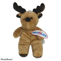 """NWT Hug & Luv Brown Moose Plush Stuffed Animal 2018 10"""" - $14.85"""