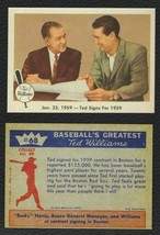 LOT of 25 REPRINT 1959 Fleer #68 TED WILLIAMS Ted Signs for 1959 SP Red ... - $9.50