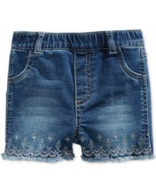 First Impressions Girl's Embroidered Denim Shorts - $19.68+