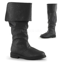 "FUNTASMA Robin Hood-100 Series 1"" Flat Heel Knee-High Boots - Black Dist... - $77.95"