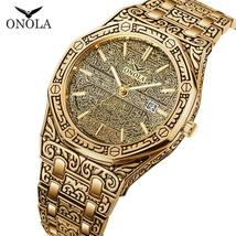 ONOLA vintage best watches for man waterproof Original steel band wristw... - $37.74