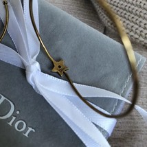 AUTHENTIC Christian Dior LIMITED EDITION J'ADIOR LARGE HOOP EARRINGS GOLD  image 4