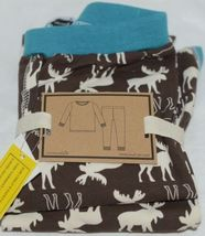 Mudpie Two Piece Lounge Set Size 4 T Moose Print 1012160 image 5