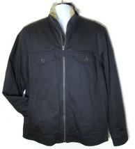 TIMBERLAND MEN'S DK NAVY RUGGED FLEECE LINED BOMBER JACKET Size M, #6140... - $75.59