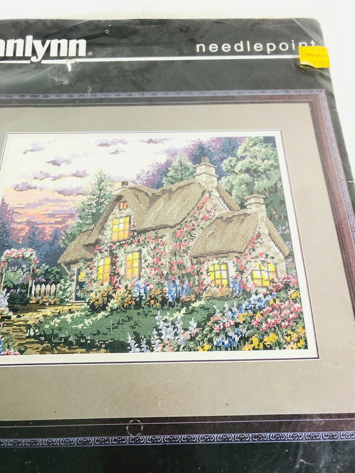 "Janlynn English Cottage Needlepoint 06-13 Vintage 1995 18 x 14""  - $44.54"