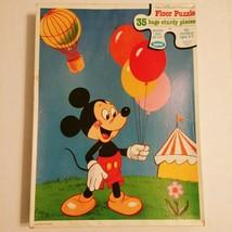 Vintage Walt Disney Mickey Mouse Floor Jigsaw Puzzle 35 pc 22x17 Jaymar ... - $28.84