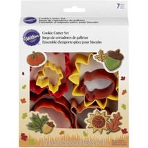 Wilton Colorful Metal Autumn 7 Pc Cookie Cutter Set Fall - $10.88