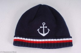 Gymboree 6-12 Month Stocking Hat w/ Anchor Navy Blue Soft 100% Cotton Ne... - $6.19