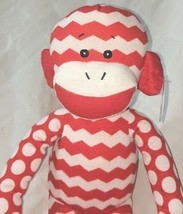 GANZ In Stitches 16 Inch Holiday Red And White Monkey Age 3 Plus image 2